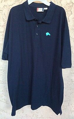 24754378 Clique Brand Men's Navy XXL Polo Shirt Buffalo Logo Cotton Poly LNWOT