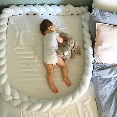 6 Farbe Baby Infant Plush Crib Bumper Bed Bedding Cot Braid Pillow Pad Protector