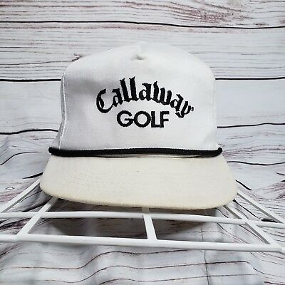 Vintage Callaway Golf Embroidered leather Strapback Rope Hat Made In USA  Masters eb97a7252f2