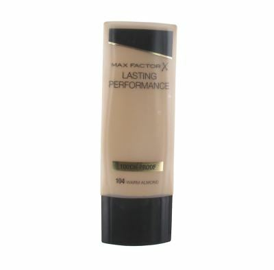 2 x MAX FACTOR LASTING PERFORMANCE TOUCH-PROOF FOUNDATION - WARM ALMOND (104)