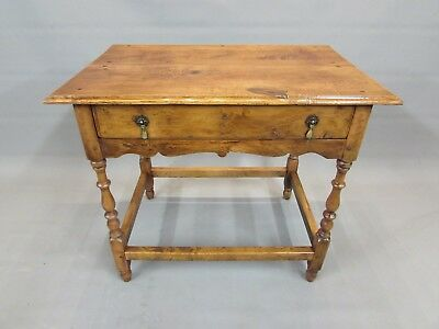 Lovely Two Plank Top Elm Lowboy Table - Delivery Option Available