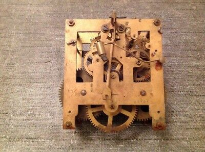 Antique FMS MAUTHE Clock Movement Clockmakers Repair Spare Parts 110x110x60mm