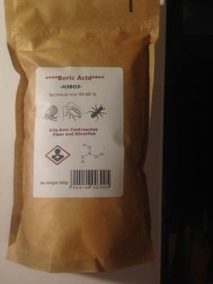Boric Acid High Purity Powder 99,9% Kills Ants-Cockroaches-Fleas-Silverfish