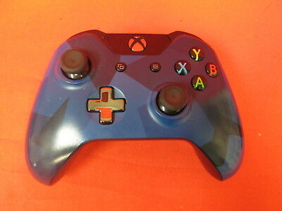 Broken Microsoft Xbox Wireless Controller Blue Special Forces For Xbox 0984