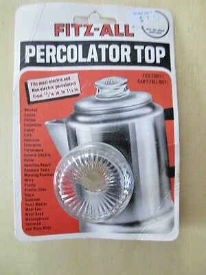Fitz-All  Fitz-All  Glass  Replacement Percolator Top  Clear
