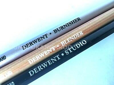 DERWENT Blender Burnisher Chinese White Pencils - Art Drawing Blending Sketching