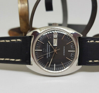 Rare Vintage Girard Perregaux High Frequency Black Dial Gyromatic Man's Watch