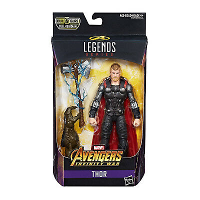 Marvel Legends Avengers Thor Figurine D'Action + Cull Obsidian Hasbro Neuf (L)