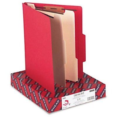 "Smead 14003 Red Classification File Folders - Letter - 8.50"" Width X 11"" Length"