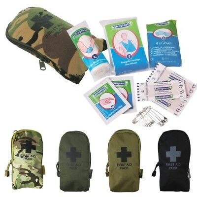 Army Small First Aid Kit & Pouch Mtp Btp Camo Survival Hiking Emergency Field