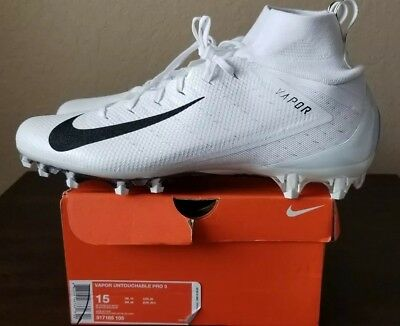 8e2fe50a9e2 🔥New Nike Vapor Untouchable Pro 3 Football Cleats White 917165-105 Mens Sz  15
