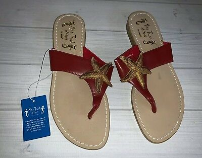 58dd74d31e0411 Miss Trish Of Capri For Target Leather Flip Flop Sandals Size 7 Women s  Starfish