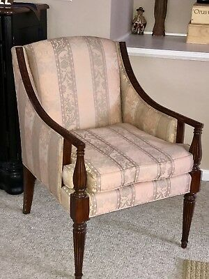 John Widdicomb Wing Back  Empire Vintage Arm  Chair  Dorothy Draper Style