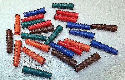 BNC Coax Boots Strain Relief Boot RG59 RG62 PSF1/3M Colours x 25pcs MIXED ONO