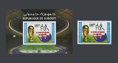 ♡ Summer Offer ♡ Djibouti Soccer World Cup Football 2006 Germany 161 S/s +1V Mnh
