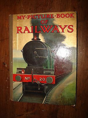 My Picture Book of Railways Golden Picture Book Ward Lock & Co. 1920's