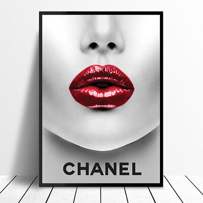 Chanel Inspired Wall Art Fashion Poster Print Decor Gift For Her Make Up