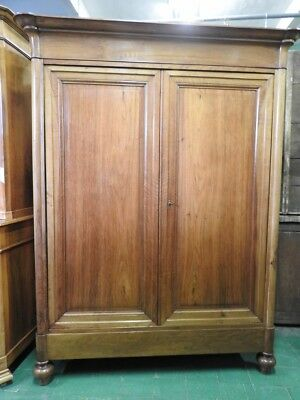 Antike Kleiderschrank Dell'800 In Walnuss Blondine Old-Time Louis Philippe