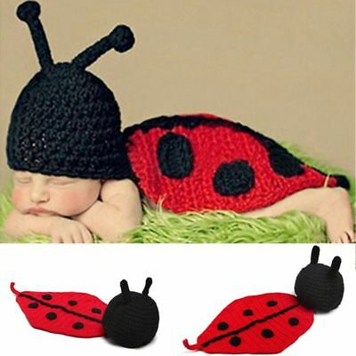 Fashion Unisex Newborn Boy Girl Crochet Knitted Baby Outfits Costume Set Ph R9B8