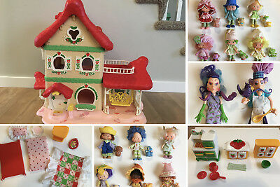Vintage Strawberry Shortcake House Furniture Dolls And Accessories Huge Lot 400 00 Picclick