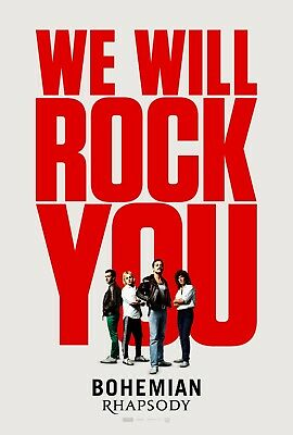 Bohemian Rhapsody We Will Rock You Poster A4 A3 A2 A1 Large Format Cinema Movie