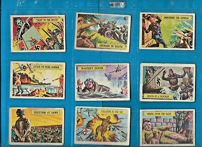 1965 A&bc (Not Topps) Battle Cards British Issue--Complete Set 1-73 All Shown