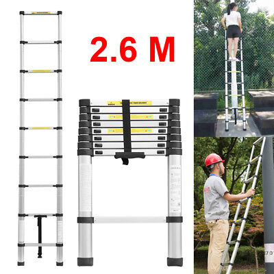 Telescopic loft ladder extendable collapsible step ladders securing bolt 2.6M