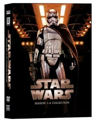 Star Wars Saga movies 1-8 Collection DVD Set 14 Disc USA Seller