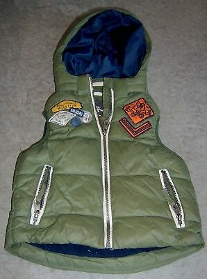 H&m Logg Boys Hooded Puffer Vest Sz 3 - 4
