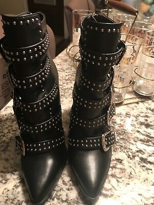8adfa4a38e0 NEW STEVE MADDEN Comet Ankle Studded Buckle Boots