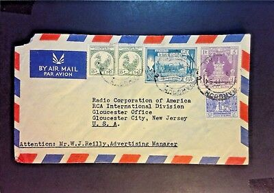 Burma 1954 Airmail Cover to USA - Z1075