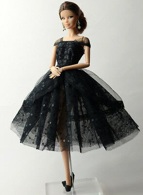 Dress Fashion Handmade Princess Dress Lace Silk Clothes Outfit For Barbie Doll