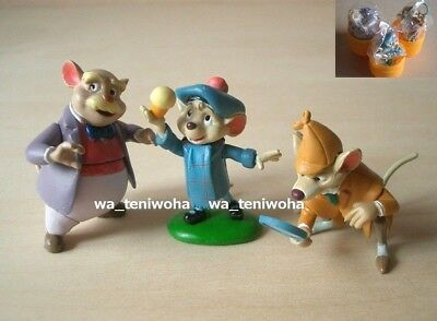 New Full Set! The Great Mouse Detective So Tiny! 3 Figures Disney Choco Egg Toy