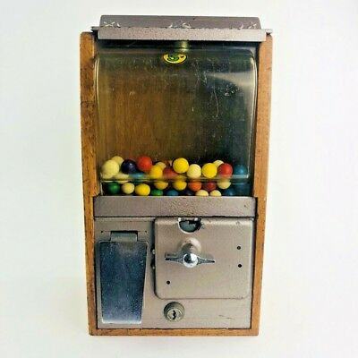 Vintage Victor Baby Grand 5¢ Wooden Gumball Vending Machine
