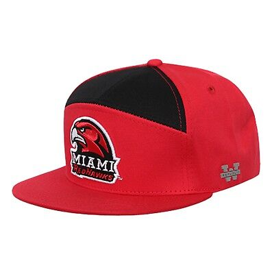 13514754e81 University of Miami RedHawks Flat Bill Crown Snapback 7 Panel Baseball Cap  Hat