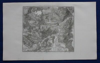 Original antique map, GERMANY, BATTLE OF MESSKIRCH, 'MOESSKIRCH', Dufour, 1859