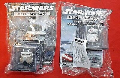 STAR WARS Helmsammlung 33+37 Commander Neyo + AT-RT-Pilot DeAgostini+Magazin