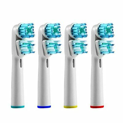 4 Oral Dual Action B Compatible for Electric Toothbrush Replacement Brush Heads