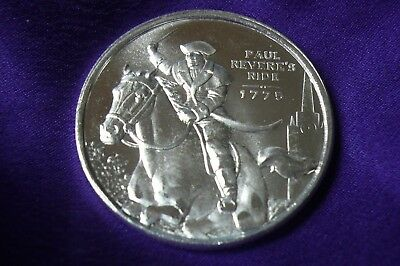 Independent Living Paul Revere's Ride 1/2 Troy Oz .999 Silver Round Coin (122)