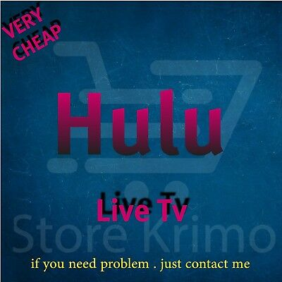 Hulu Premium Account Live Tv | NOT SHARED | ACCOUNT Warranty | Fast Delivery🔥