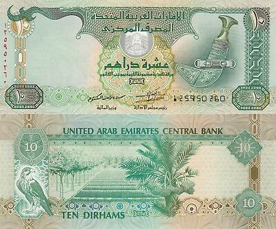 United Arab Emirates 10 Dirhams (2013) - Dagger/Hawk/p27c UNC