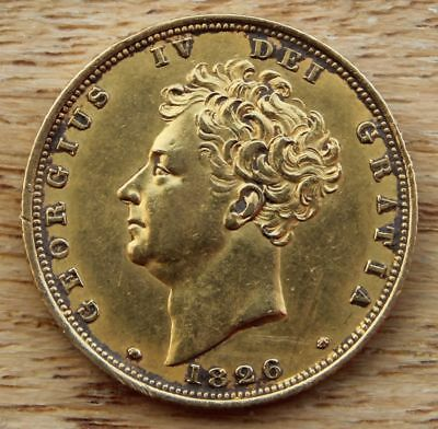 1826 Sovereign, George IV (1820-30) aEF