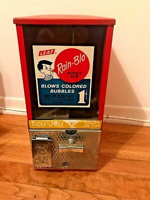 vintage gumball candy machine Toy N Joy 1 cent  working penny machine