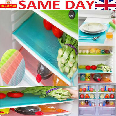 1,4 Pcs Easy Clean Kitchen Antibacterial Cabinet Pad Anti Slip Fridge Liner Mat