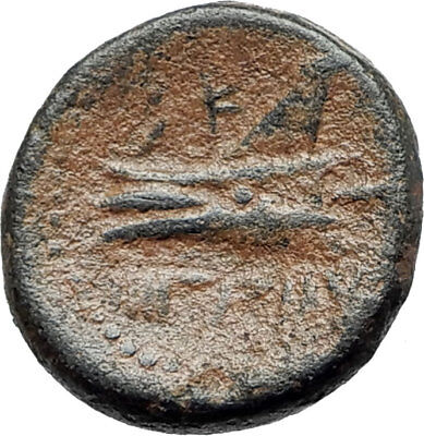 ARADOS in PHOENICIA Authentic Ancient 206BC Greek Coin w ZEUS & GALLEY i75495