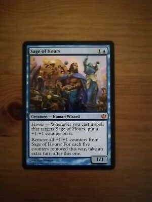4 Sage of Hours Blue Journey into Nyx Mtg Magic Mythic Rare 4x x4
