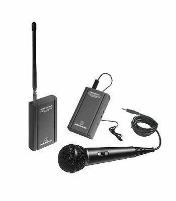Audio Technica Atr288w Professional Vhf Wireless Lavaliere And Hand-held