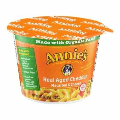 Annie's Homegrown, Inc. 00058 Aged Cheddar Mac And Cheese, 2.01 Oz Cup,