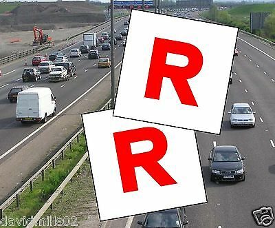 Learner Driver Magnetic R Plates for Isle of Man Magnetic Sheet 100% magnet grip