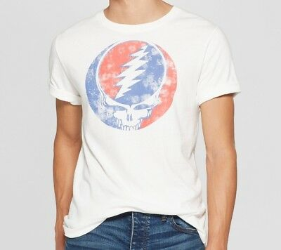 7f63815e790 The GRATEFUL DEAD Steal Your Face T-Shirt L White 100% Cotton Jerry Garcia